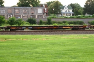 brown flatcars
