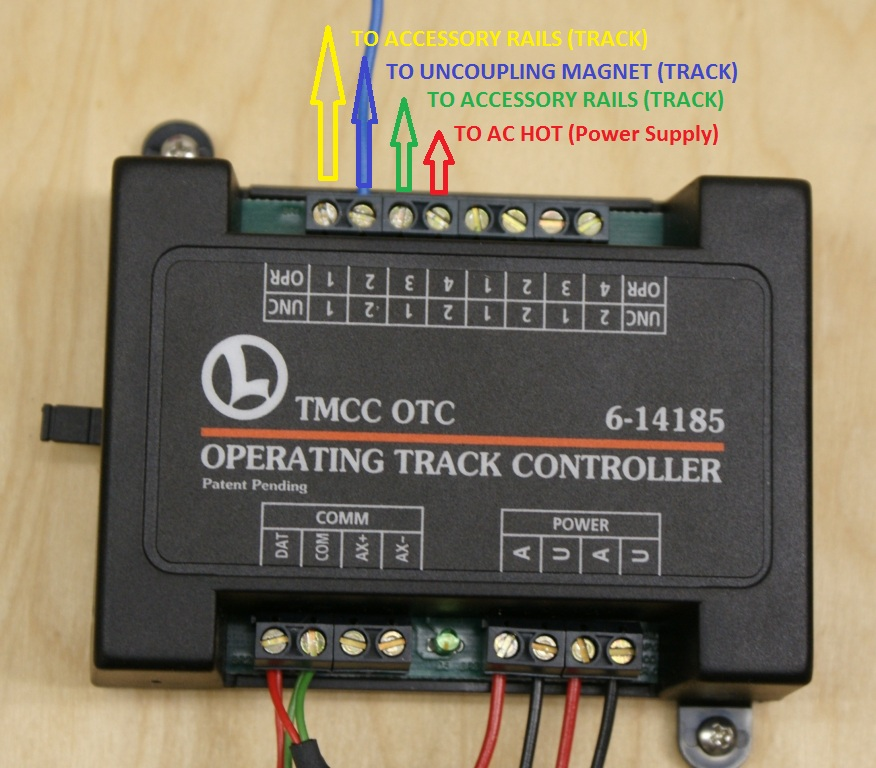 otcfastrackwireout wiring a lionel otc to a fastrack operating track lionel trains lionel zw transformer wiring diagram at crackthecode.co