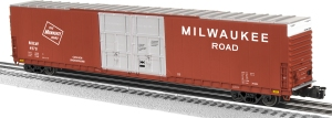 "The Milwaukee Road ordered 5 cars at the same time as the Frisco car seen above. This too was an ""X60G."""
