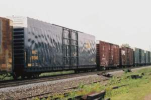 Higher Cube? CSX has rebuilt some former Conrail cars to make them even taller! This rebuilt car serving its fourth owner and wearing NYC reporting marks for the second time